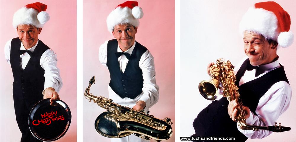 komischer kellner felix - happy christmas